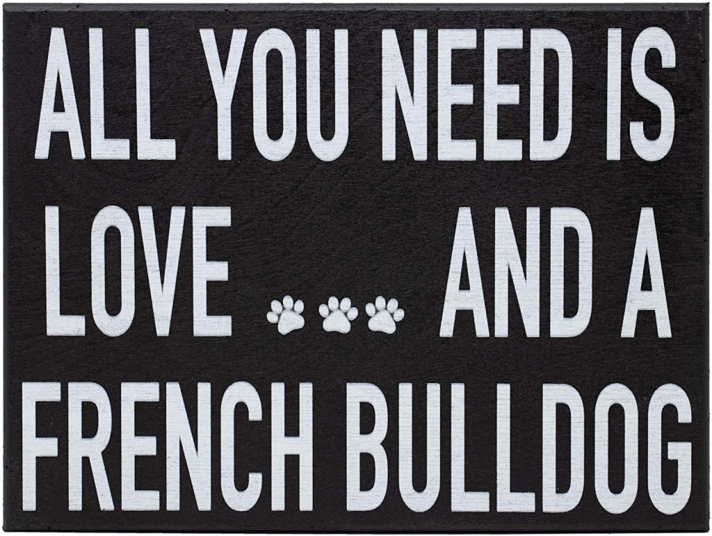 French Bulldog Lovers Gifts —  JennyGems Wooden Box Sign