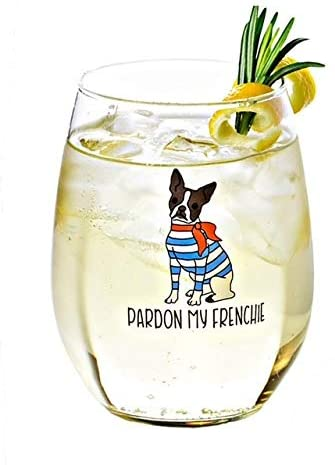 French Bulldog Lovers Gifts — Drinking Divas Wine Glass